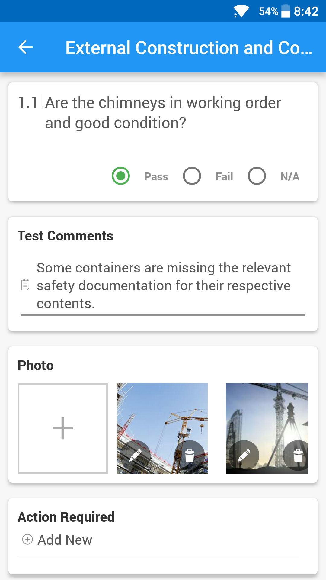 Onsite Checklist Quality And Safety Inspection Checklist App